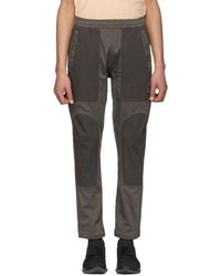 Stone Island - Grey Panelled Trousers - Lyst