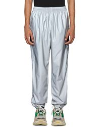 Balenciaga - Silver Reflective Track Pants - Lyst