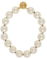 Fendi - Pearl And Gold Choker Necklace - Lyst