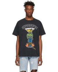 Warren Lotas - Ssense Exclusive Black Unforgiven Graphic Destroyed T-shirt - Lyst