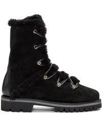 Yves Salomon - Black Merino Hiking Boots - Lyst