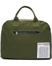 DIESEL - Reversible Green Xx Match Duffle Bag - Lyst