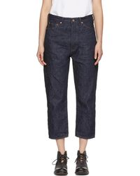 Chimala | Indigo Wide Tapered Selvedge Denim Jeans | Lyst