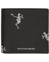 Alexander McQueen - Black All Over Dancing Skeleton Wallet - Lyst