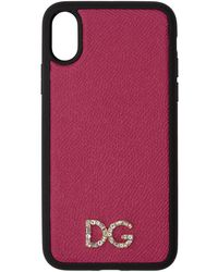 Dolce & Gabbana - Pink Crystal Iphone X Case - Lyst