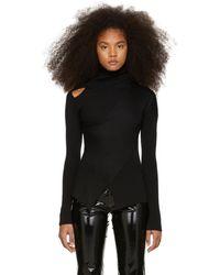 Yang Li - Black Knit Shoulder Exposure Turtleneck - Lyst