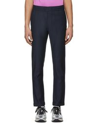 PS by Paul Smith - Navy Elasticized Waist Trousers - Lyst