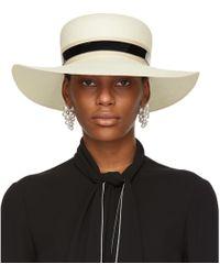 Lanvin | Ivory Straw Capeline Hat | Lyst