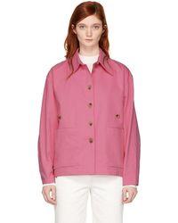 Studio Nicholson - Pink Mizuna Waisted Utility Jacket - Lyst