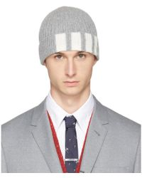 Grey Cashmere Cable Knit Four Bar Beanie Thom Browne Tw5jH2qfP