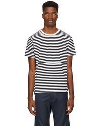 Nanamica - Black And White Coolmax T-shirt - Lyst