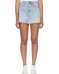 Alexander Wang - Blue Bite Denim Miniskirt - Lyst