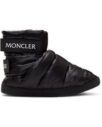 Moncler - Black Puffer High-top Trainers - Lyst