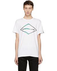 Rag & Bone - White Diamond Glitch T-shirt - Lyst