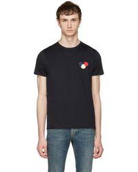 Moncler - Navy Maglia T-shirt - Lyst