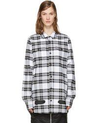 Off-White c/o Virgil Abloh - White Check Diagonal Spray Shirt - Lyst