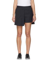 Neil Barrett - Navy Techno Pinstripe Miniskirt - Lyst