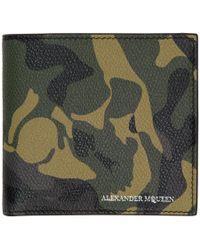 Alexander McQueen - Green Camouflage Wallet - Lyst