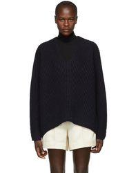 Acne Studios - Navy Wool Deborah V-neck Sweater - Lyst