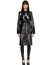 Helmut Lang | Black Leather Pleasure Trench Coat | Lyst