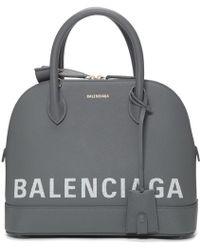 Balenciaga - Grey Small Ville Top Handle Bag - Lyst