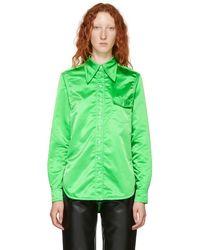 Kwaidan Editions - Green Pointed Collar Shirt - Lyst