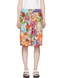 Ports 1961 - Multicolour Floral Ample Shorts - Lyst