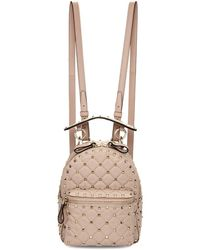 Valentino - Pink Garavani Mini Nylon Rockstud Backpack - Lyst