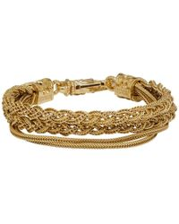 Emanuele Bicocchi Gold Braided Bracelet