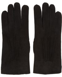 A.P.C. | Black Leather Axel Gloves | Lyst