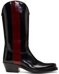 CALVIN KLEIN 205W39NYC - Black And Red Ed Western Boots - Lyst