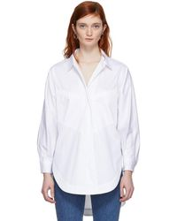 Opening Ceremony - White Sateen Eliptical Seam Shirt - Lyst