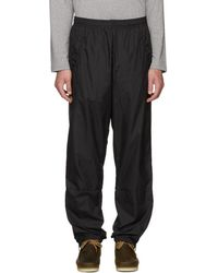 Acne Studios - Black Nylon Face Lounge Pants - Lyst