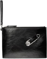 Versus - Black Large Safety Pin Pouch - Lyst