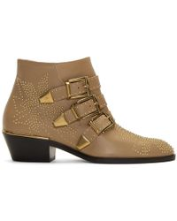 Chloé - Beige Nappa Susanna Boots - Lyst
