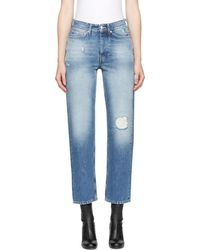 Won Hundred - Blue Distressed Pearl Jeans - Lyst