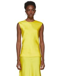Protagonist - Yellow Shell Tank Top - Lyst