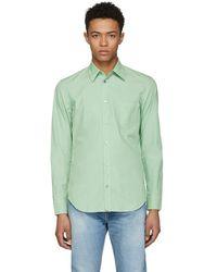 Maison Margiela - Green Poplin Shirt - Lyst
