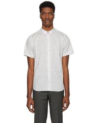 PS by Paul Smith - White Floral Slim Shirt - Lyst