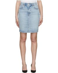 Levi's - Blue Denim Essential Miniskirt - Lyst