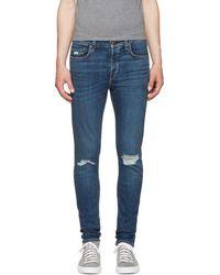 Rag & Bone - Ssense Exclusive Blue Standard Issue Fit 1 Jeans - Lyst