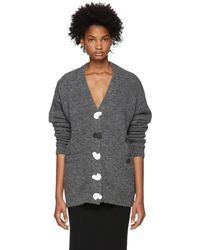 Tibi - Grey Airy Cardigan - Lyst