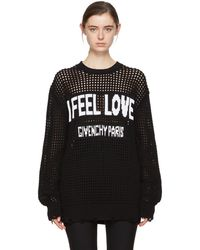 Givenchy | Black Oversized I Feel Love Sweater | Lyst