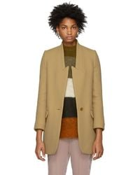 Stella McCartney - Tan Felted Wool Coat - Lyst