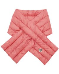 Moncler - Pink Down Scarf - Lyst