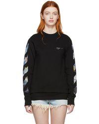 Off-White c/o Virgil Abloh - Black Diag Arrows Long Sleeve T-shirt - Lyst