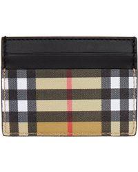 Burberry - Black Vintage Check Sandon Card Holder - Lyst