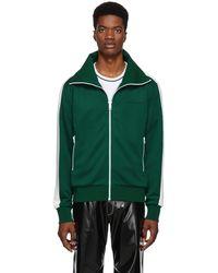 Burberry - Green Striped Kalestone Track Jacket - Lyst