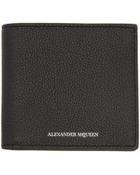 Alexander McQueen - Black Calfskin Wallet - Lyst