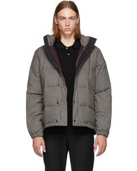 PS by Paul Smith - Black And White Down Check Jacket - Lyst